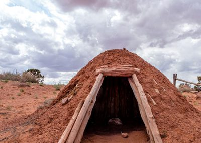 Small dwelling built from the earth